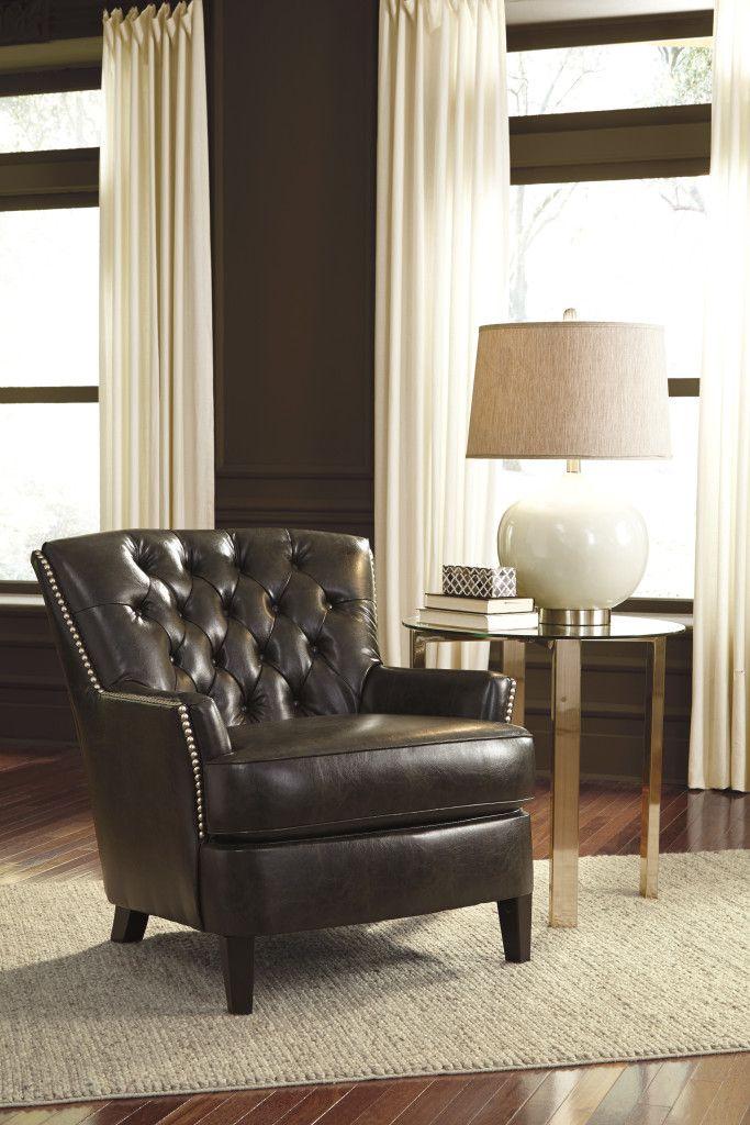 ASHLEY JONETTE Accent Chair | Color negra, Sillas y Encontrado