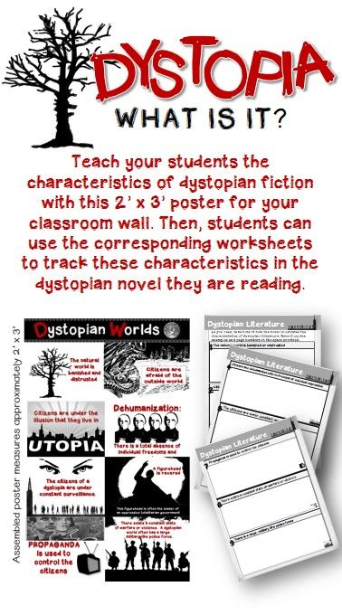 dystopian fiction poster worksheets for any text worksheets fiction and students. Black Bedroom Furniture Sets. Home Design Ideas