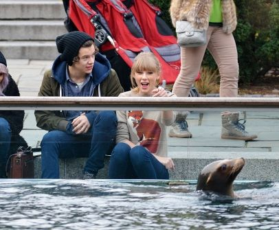 Taylor Swift and Harry Styles in NYC's Central Park and at the Central Park Zoo. 12-2-2012