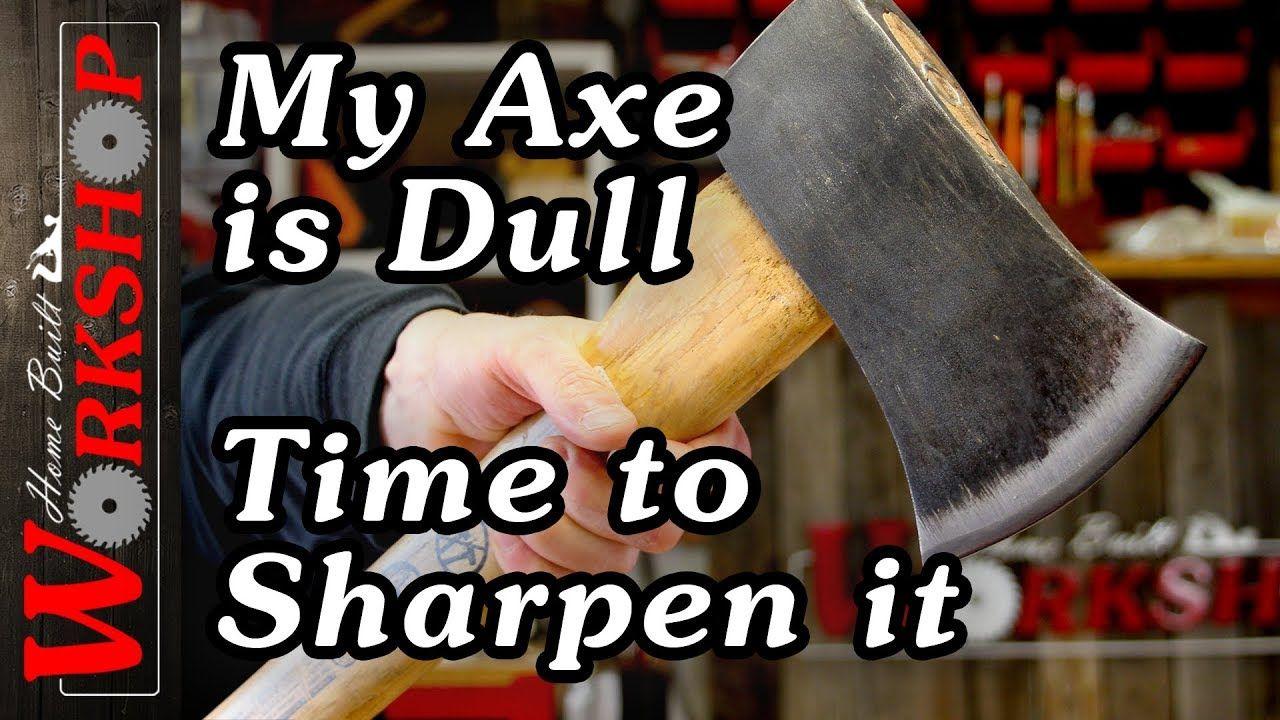 How to sharpen an axe its easy axe hand axe survival
