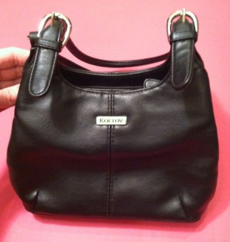 Koltov Small Black Handbag Lots of Compartments Shoulder Bag Women s Purse   EUC b8e0802bac379