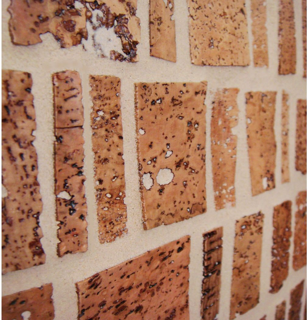 - Super Tuscan Cork Backsplash (Cultivate.com) Also Available In