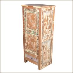 Santa Fe Sunburst Old Wood Storage Cabinet