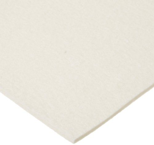 "Grade F10 Pressed Wool Felt Sheet, White, Meets Sae J314, 3/16"" Thickness, 12"" Width, 12"" Length, 2015 Amazon Top Rated Fabrics, Fibers & Textiles #BISS"