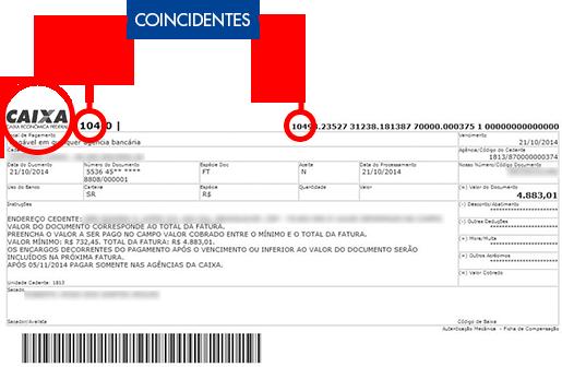 CAIXA - Segurança na Internet Confira sempre todas as informações do boleto: valor, nome do beneficiário, marca e código do banco e a numeração do boleto. Eles devem ser iguais em todo o documento.