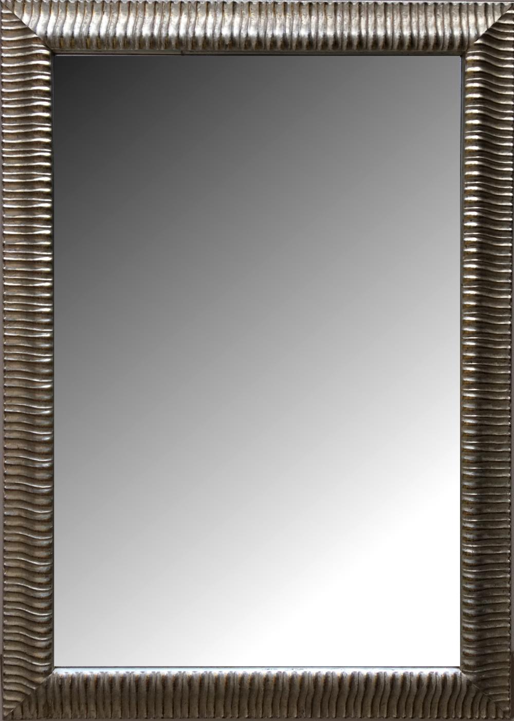 Espejo biselado estilo moderno con marco en madera modelo for Precio espejo a medida sin marco