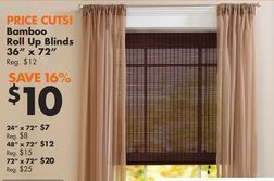 Bamboo Roll Up Blinds From Big Lots 10 00 16 Off