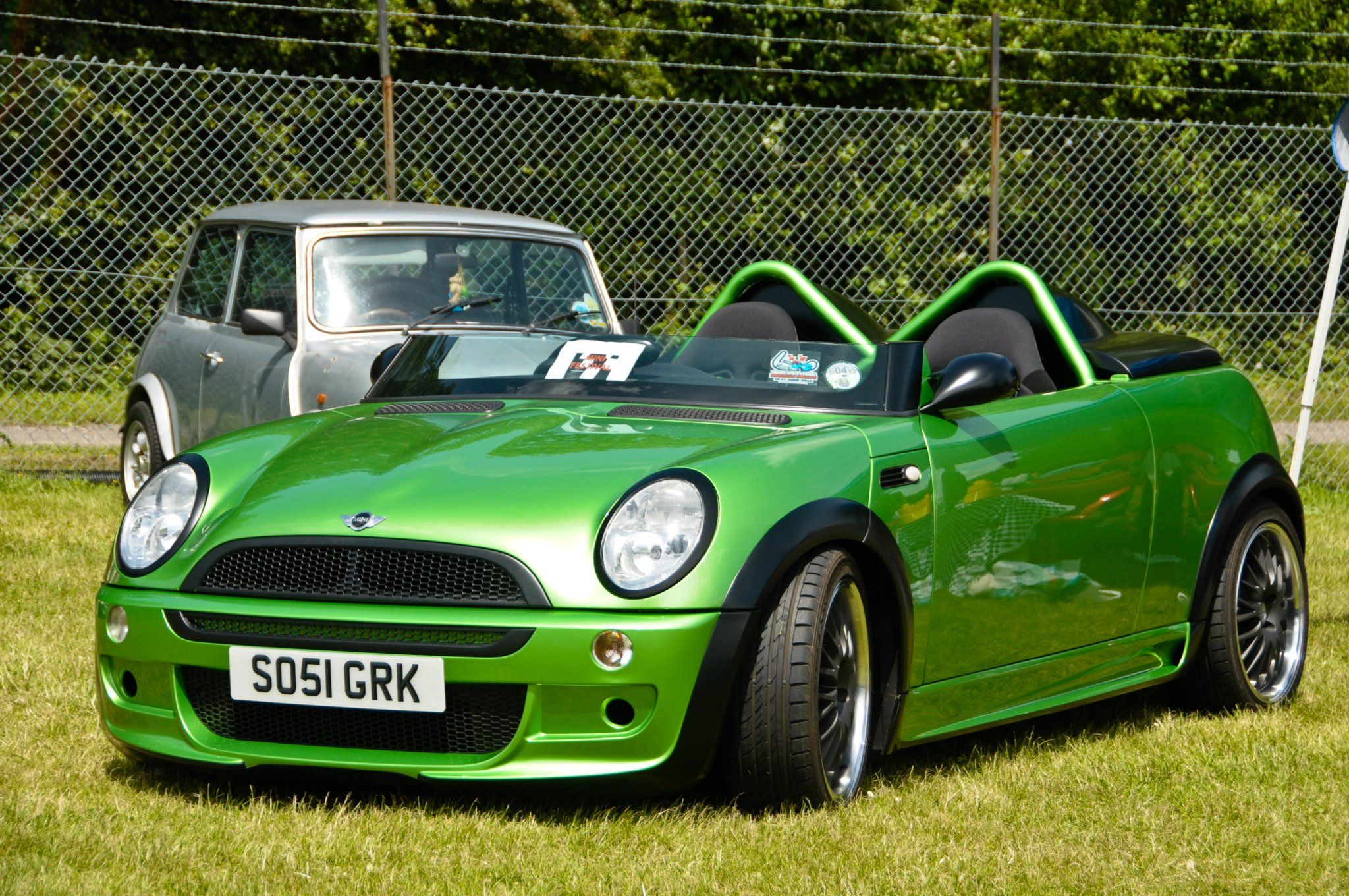 What Do You Think Of This One Off Lime Green Convertible Spotted At Mini Brands Hatch Festival Mini Cooper Mini Cars Mini Convertible