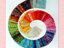 125 Batik-Scraps *10x10* Patchwork Stoffpaket Baby