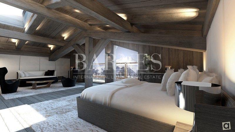 Bedroom Too Big But Under Roof And Big Window Megeve Chalet