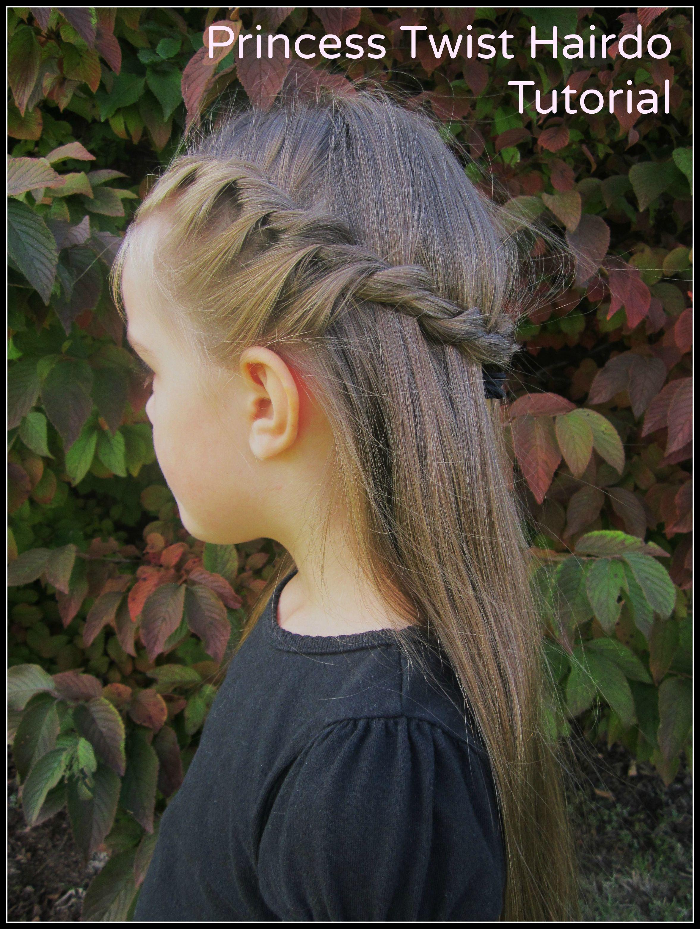 Easy princess twist hairdo tutorial she rebecca princess