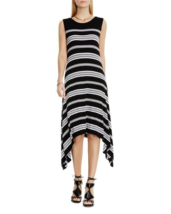 Vince Camuto Striped Asymmetric Dress