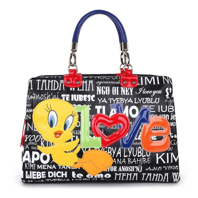 60e2ac2e0a Braccialini tottyblu tweety bird disney love black handbag | Shopper ...