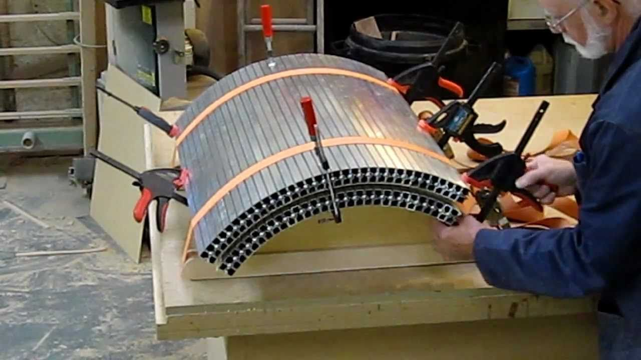 how to make curved plywood panels without a bagpress my woodshop rh pinterest com