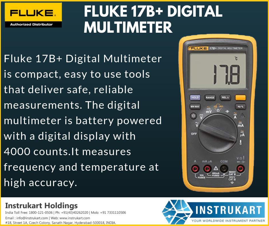 Fluke 17b Digital Multimeter Online Buy Digital Multimeter Instrukart Digital Used Tools Compact