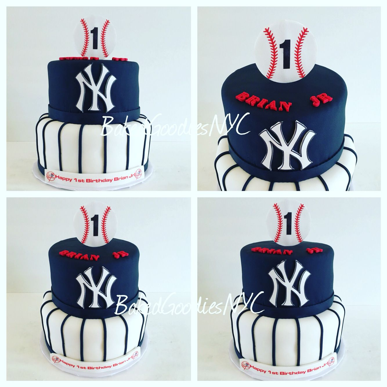 Ny Yankee Cake Baseball Birthday Cakes Birthday Cakes For Men Yankees Birthday Party