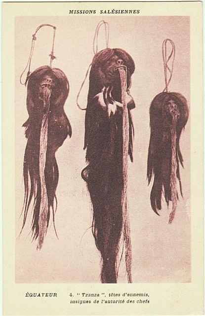 Ecuadorian postcard/pitchcard for shrunken head exhibition.