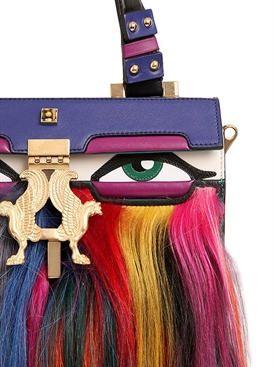 giancarlo petriglia - women - top handles - mini peggy eyes kidassia & leather bag