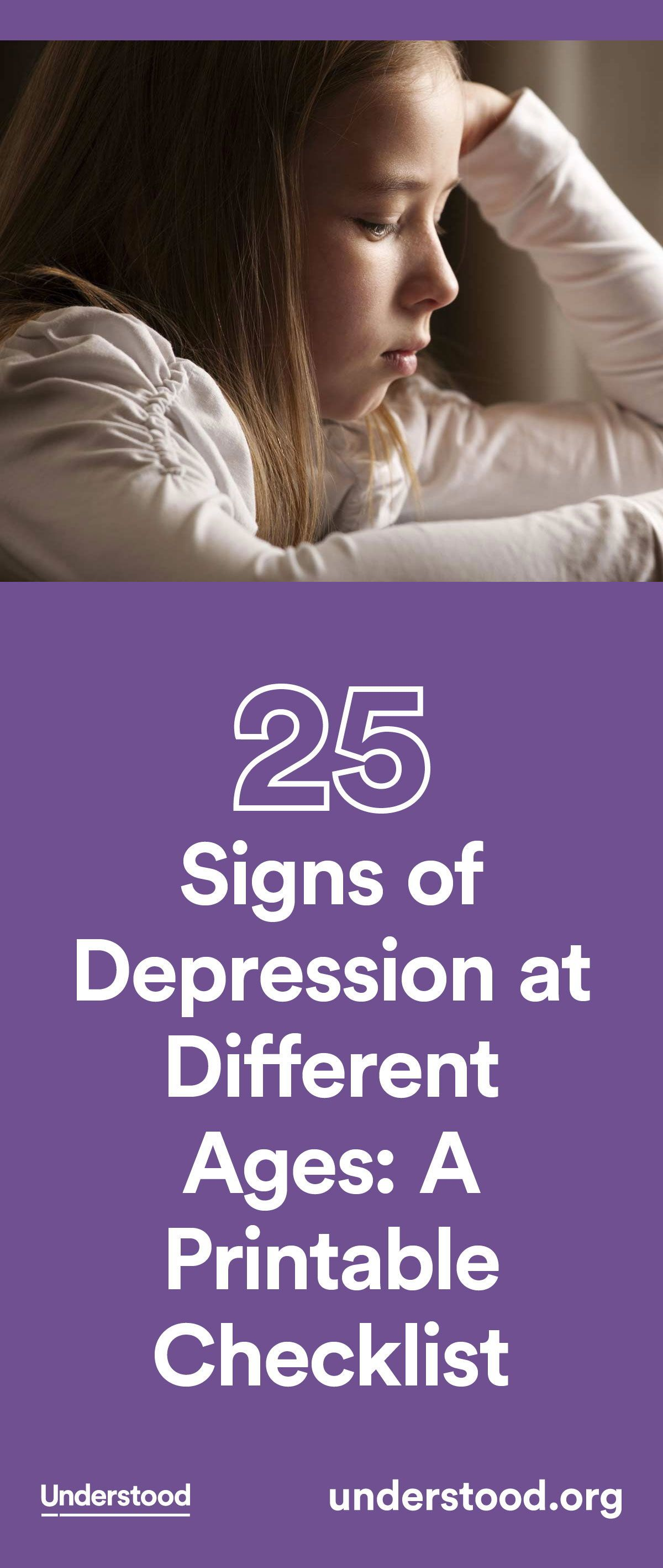 Signs Of Depression At Different Ages A Printable