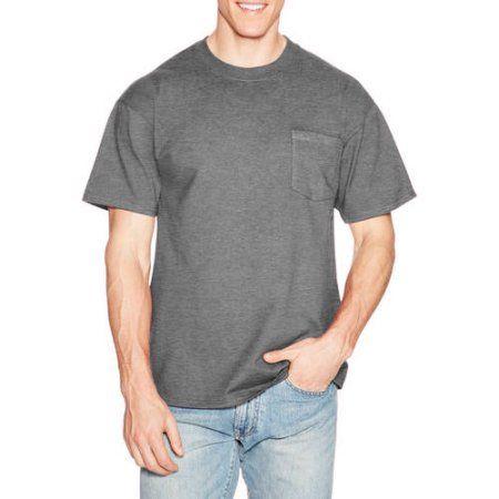 9895c996d Hanes Mens Premium Beefy-T Cotton Short Sleeve T-Shirt with Pocket, Men's,  Size: Medium, Black