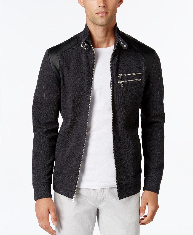 Inc International Concepts I N C Men S Fire Knit Moto Jacket Created For Macy S Men Coats Jackets Macy S Leather Jacket Men Jackets Moto Jacket [ 1500 x 1230 Pixel ]