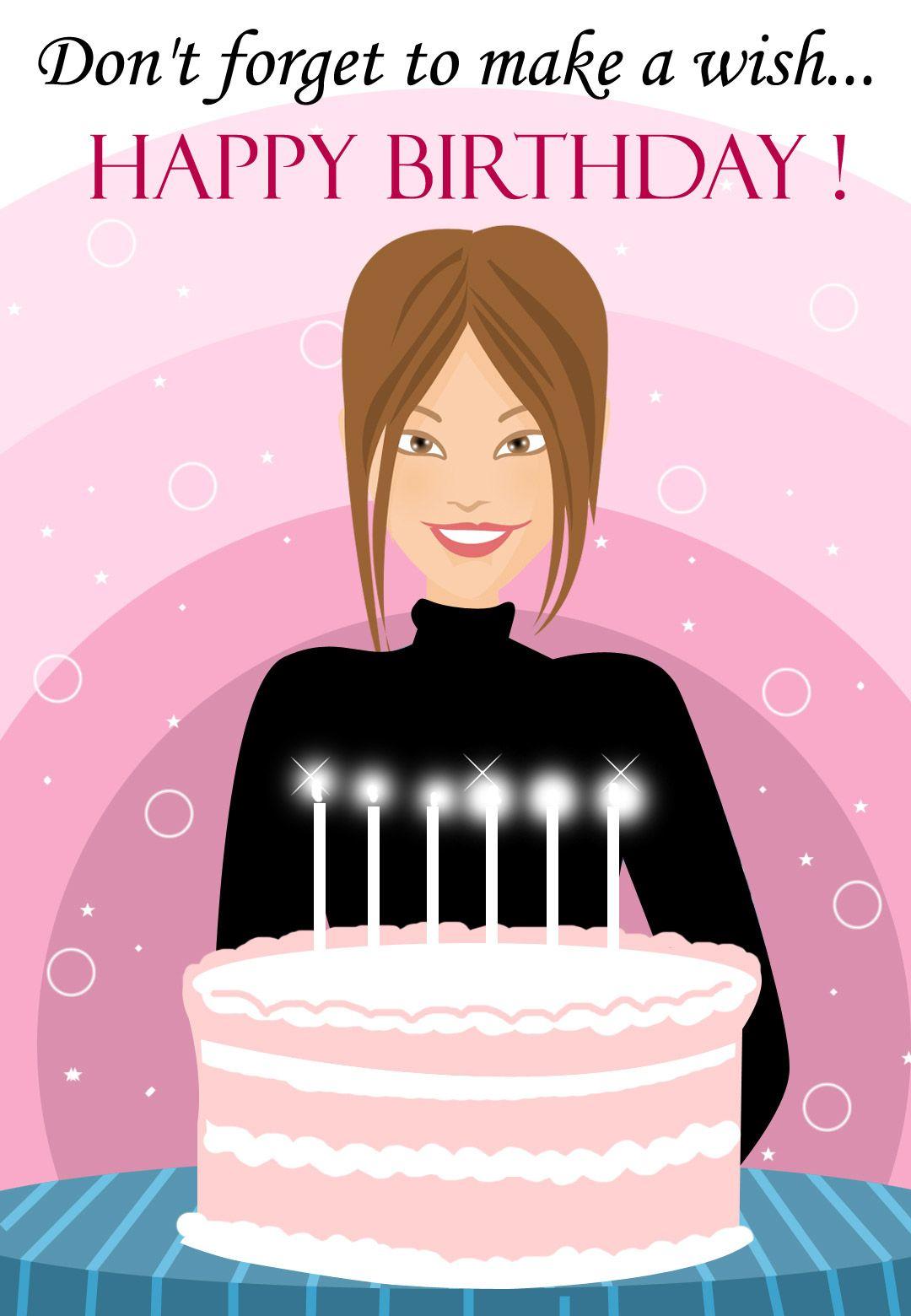 Make A Wish Free Printable Birthday Card Greetings Island Free Printable Birthday Cards Birthday Card Printable Happy Birthday Me