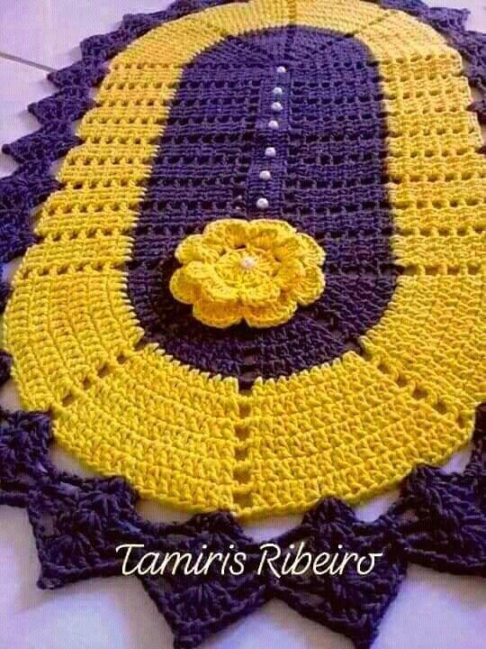 Pin De Doraci De Lourdes Poleti Em Croche Tapete De Croche
