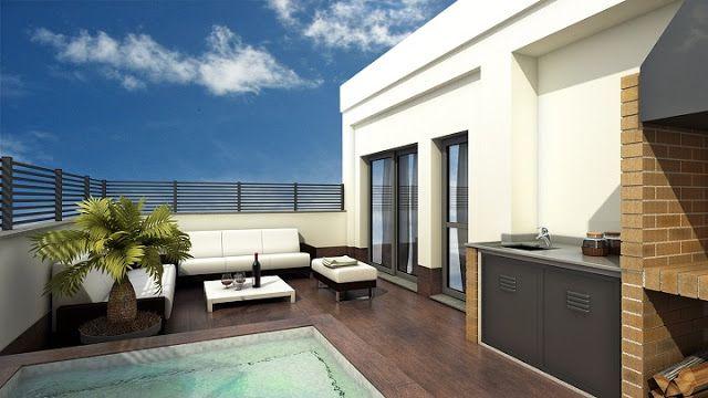 C mo decorar terrazas minimalistas by artesydisenos for Terrazas en azoteas pequenas