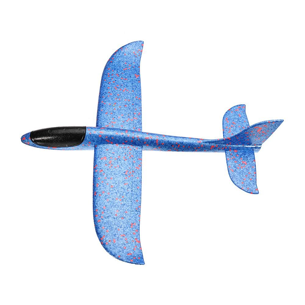 11 48cm Big Size Hand Launch Throwing Aircraft Airplane DIY Inertial Foam EPP Children Plane Toy   Blue