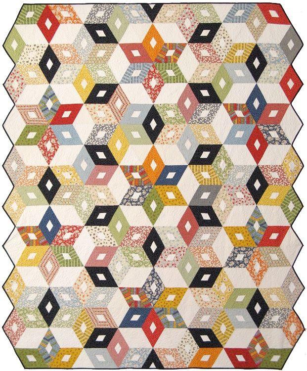 Black diamond quilt pattern.