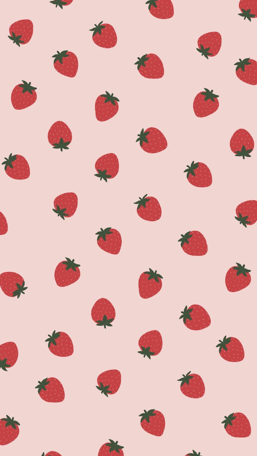 FREE! Strawberry Summer Phone Wallpapers - Miloe Joanne