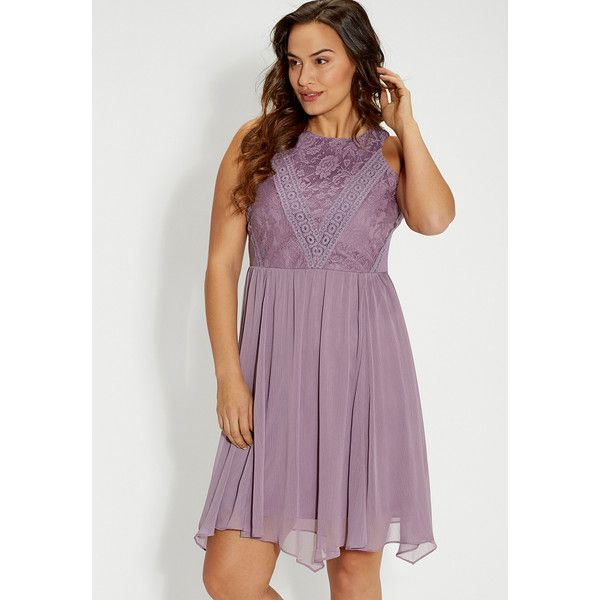 maurices Plus Size - Dress With Lace And Crocheted Top ($54 ...