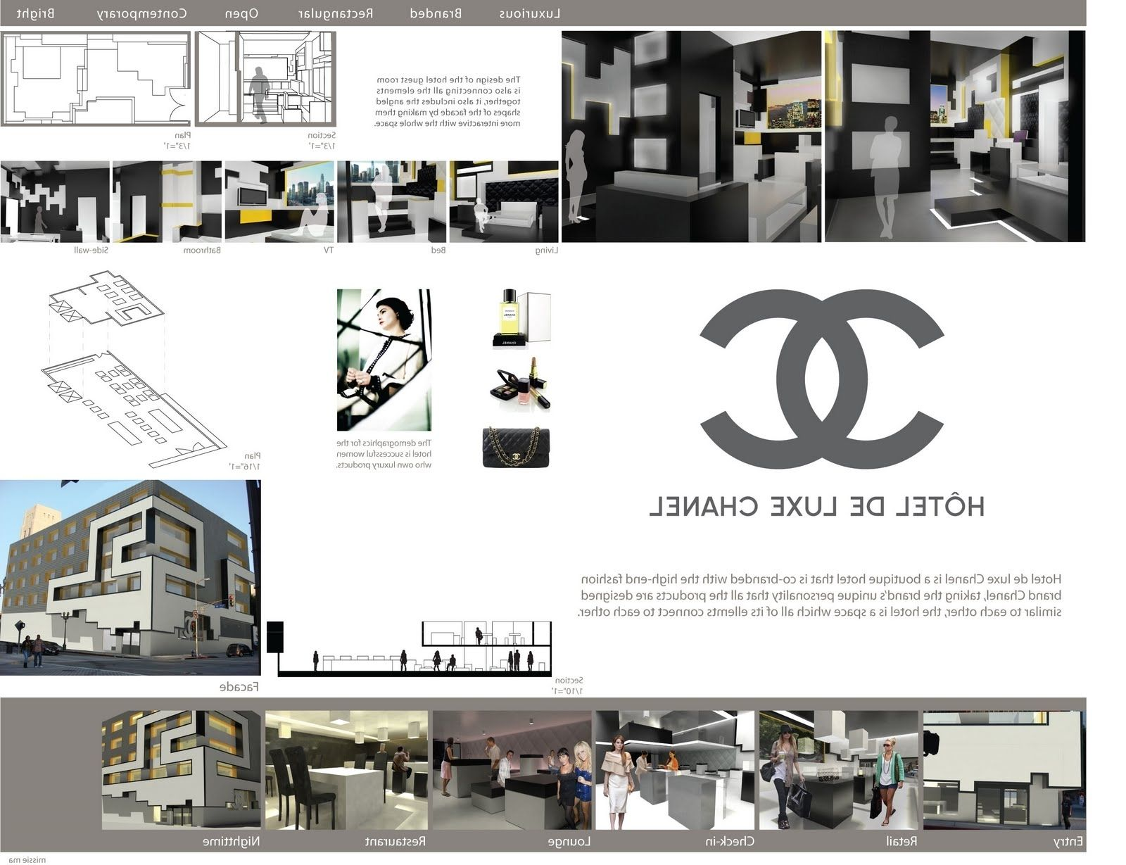 Interior Design Presentation Board The