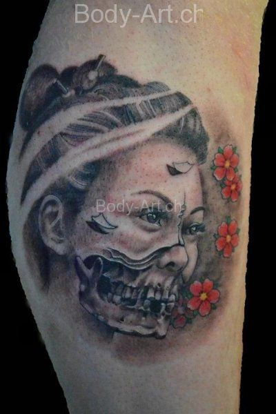 evil geisha tattoo tattoos artwork by rodrigo. Black Bedroom Furniture Sets. Home Design Ideas