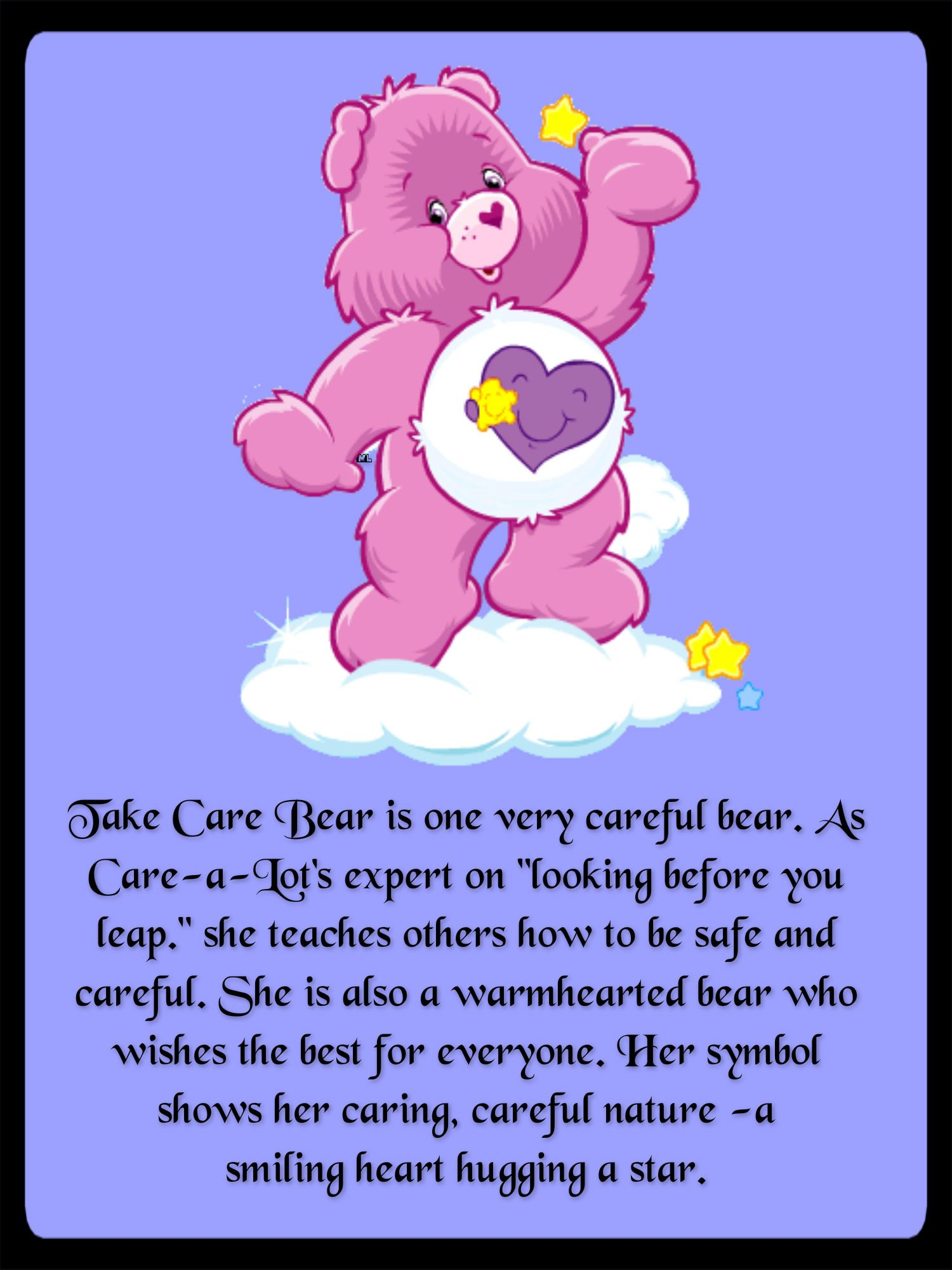 Take Care Bear Is One Very Careful Bear As Care A Lot S