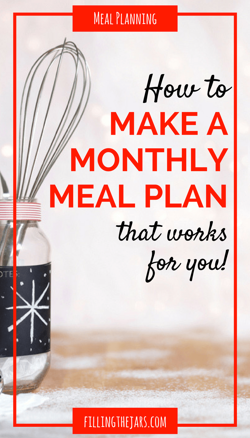 How to Plan a Monthly Menu That Works For YOU | Creating a Haven