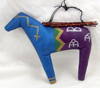 Spirit Horse Soft Sculpture Wall Hanging by Peter Ray James