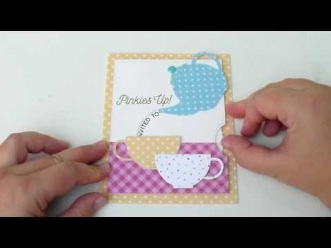 Bagatelas De Papel Interactive Tea Card Tutorial In English Card Tutorial Card Making Interactive Cards
