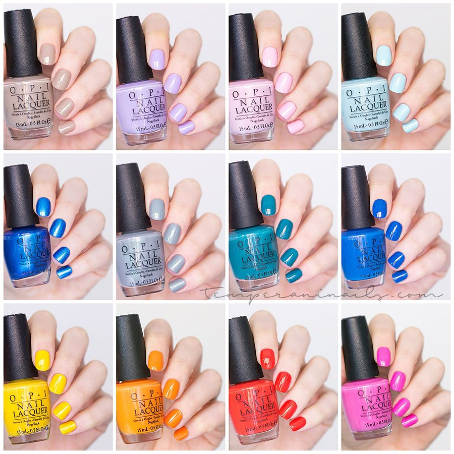 OPI Fiji S/S 2017 Collection – Swatches and review | Nail ...