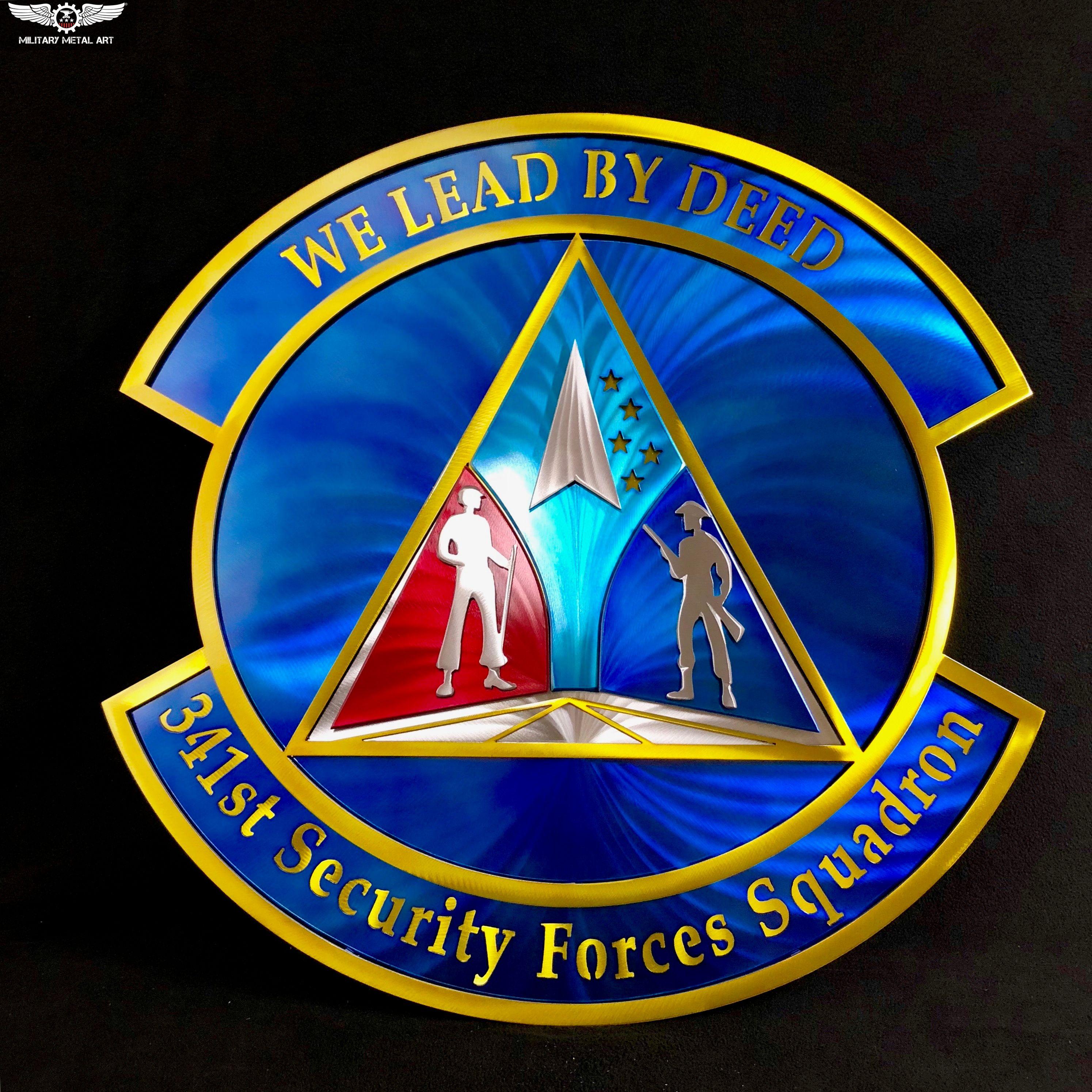341st Security Forces Squadron Military Artwork Metal Art Art