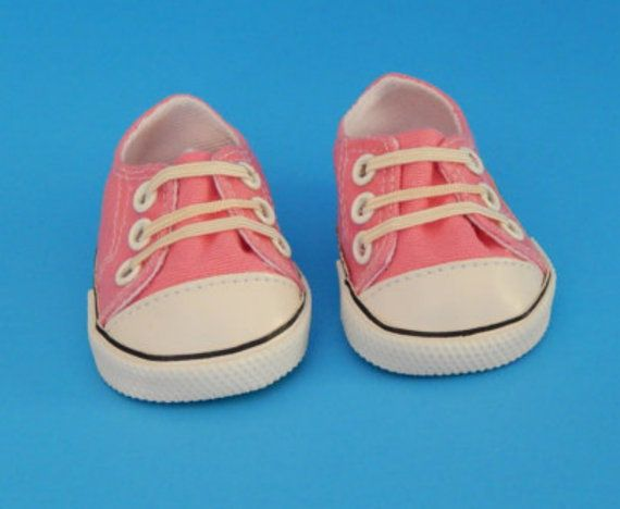 Pink Sneakers for American Girl dolls by Emmasdollshop on Etsy