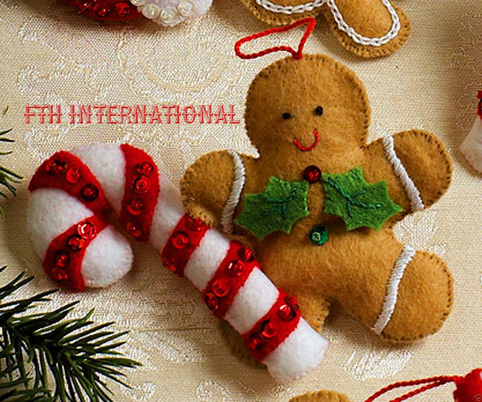 Details About Bucilla Christmas Cookies Felt Ornament Kit 86148
