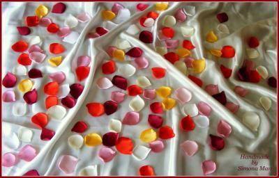 petale artificiale, petale trandafir, petale nunti, petale evenimente, petale Cluj, petale satin, petale multicolore, petale handmade