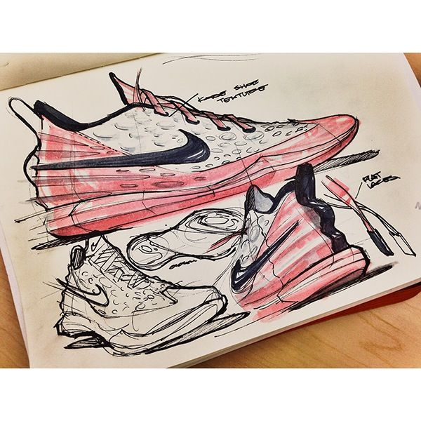 Sketches we like / Nike / Shoe / Pencil / Softgoods / | Industrial Design |  Pinterest | Nike shoe, Sketches and Industrial
