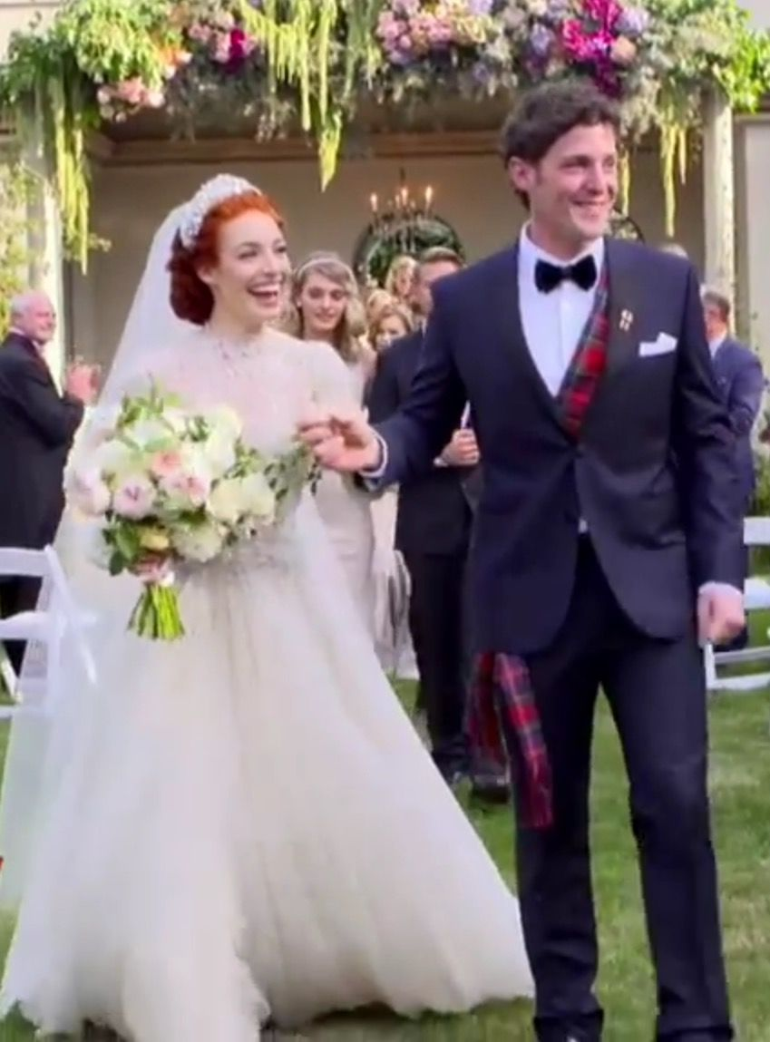 Emma And Lachy Walking To The Aisle Of Anthony Playing The Back Pipes Perfect For Each Other They D Be The Perfect Wedding Bridesmaid Dresses Wedding Dresses