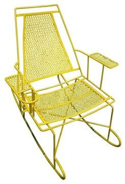 Vintage Metal Outdoor Rocking Chair Modern Chairs