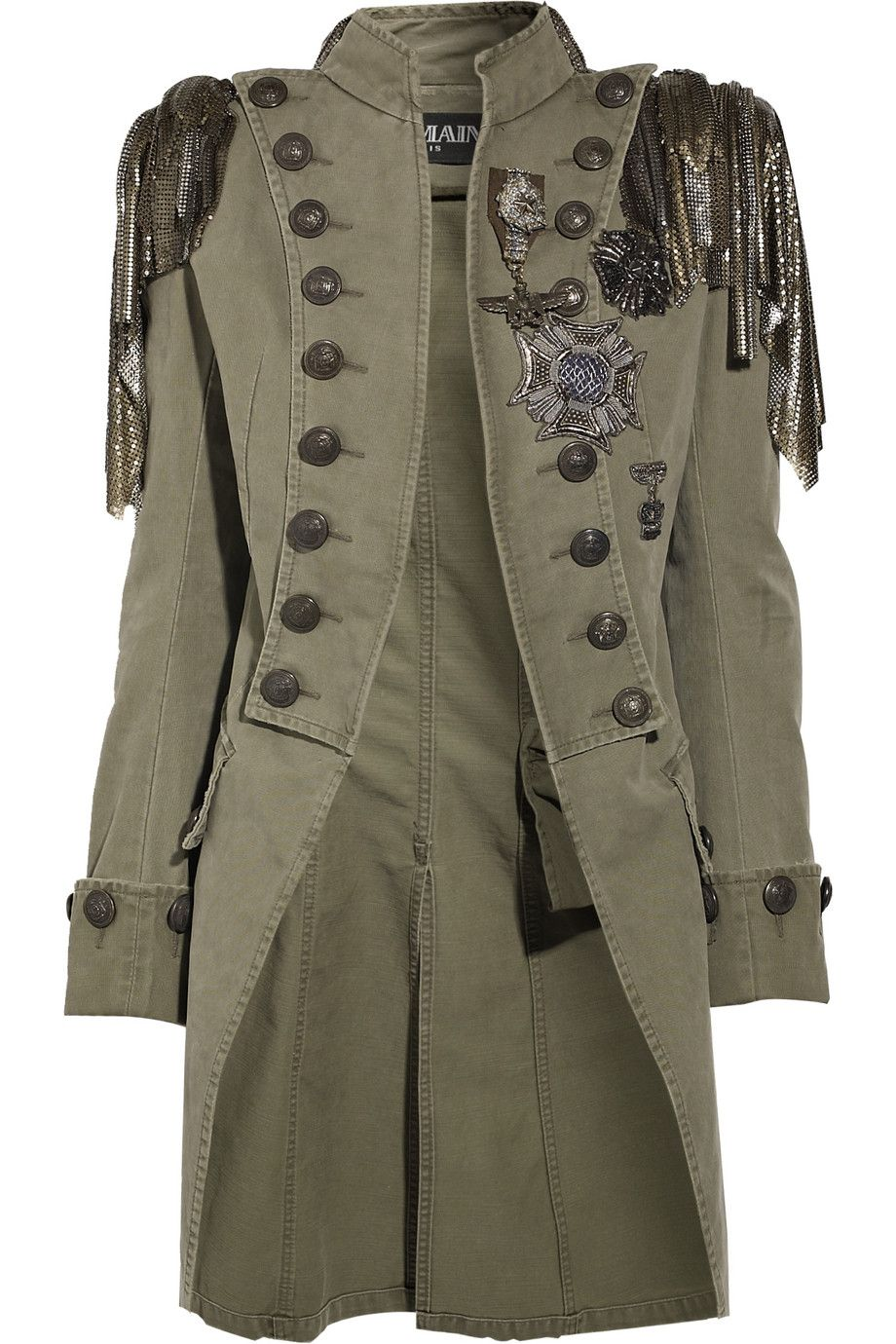 Embellished Cotton Canvas Napoleon Coat By Balmain Steampunk Ish Pinterest Cotton Canvas