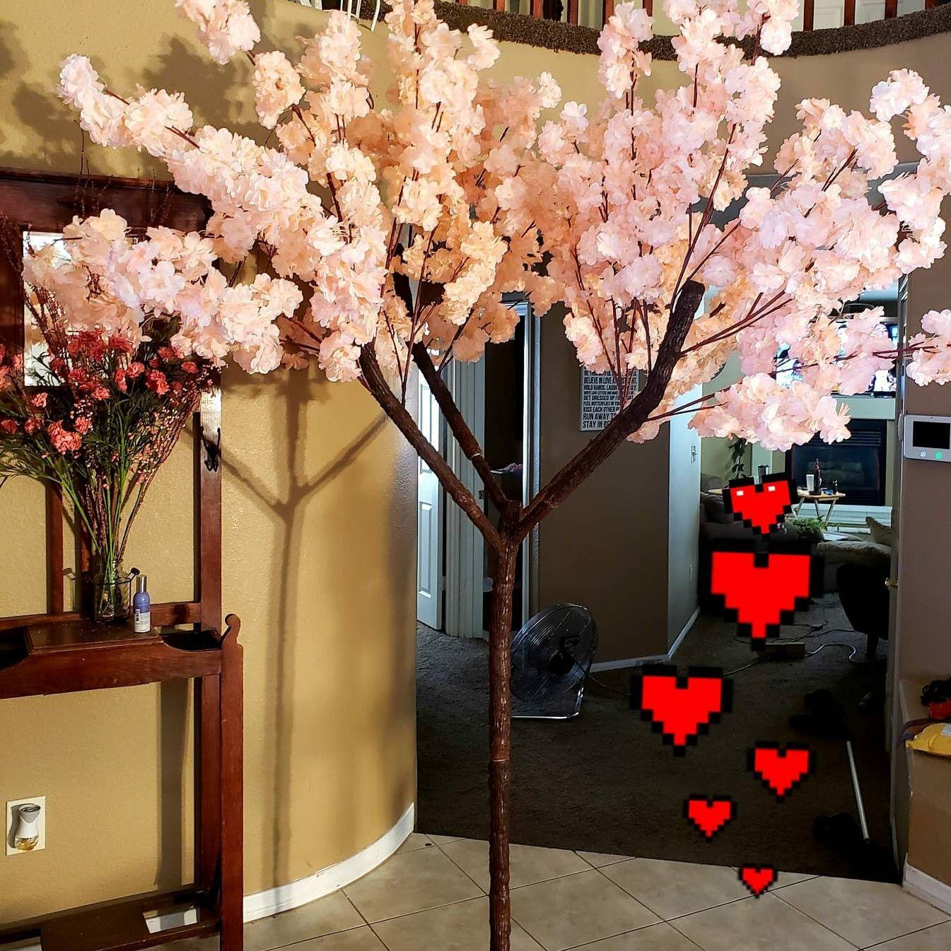 Pin By Newlumipath On Diy Home Decor Artificial Flower Trees Flowering Trees Artificial Flowers Home Diy