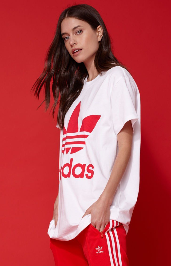 Adidas Adicolor Red Big Trefoil T Shirt At Pacsun Com Adidas Clothes Adidas Outfit [ 1128 x 727 Pixel ]