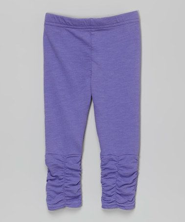 Another great find on #zulily! Purple Ruch Leggings - Infant, Toddler & Girls #zulilyfinds